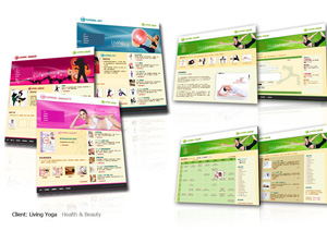 Web design, Flash design + Content management system + Booking system